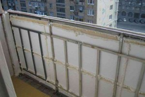 Фото: Утепление парапета балкона