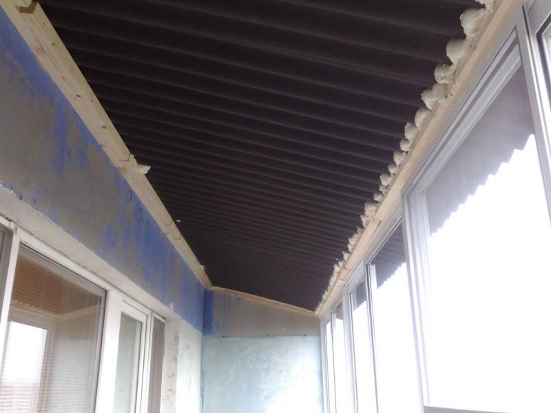 Как сделать крышу балкона последнего этажа своими руками 277
